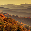 Hazy Sunny Layers In The Smoky Mountains by Teri Virbickis