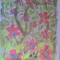 Hds-acrylic Floral Green by Hema V Gopaluni
