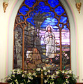 He Is Risen Stained Glass Window by Charles Robinson