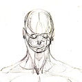 Head, Front Drawing. by Miquel Sirera