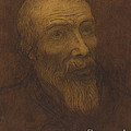 Head Of A Bald Man With A Beard by Alphonse Legros