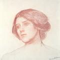 Head Of A Girl by John William Waterhouse