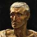 Head Of A Shipwrecked Man  by Theodore Gericault