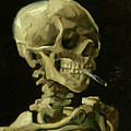 Head Of A Skeleton With A Burning Cigarette Van Gogh 1885 by Vincent Van Gogh
