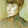 Head Of A Woman  by Edgar Degas