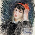 Head Of A Young Woman - 1878 -1880 Pierre-auguste Renoir by Eloisa Mannion