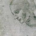 Head Of A Young Woman Or Head Of The Virgin by Leonardo da Vinci