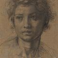 Head Of Saint John The Baptist by Andrea Del Sarto