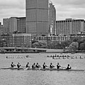 Head Of The Charles. Charles Rowers Black And White by Toby McGuire