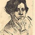 Head Of Woman (frauenkopf) by Lovis Corinth