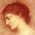 Head Study Of Maria Zambaco The Wine Of Circe by BurneJones Edward