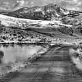 Headed To The Yellowstone Forever Overlook Campus Black And White by Adam Jewell