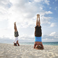 Headstand On Beach by Brandon Tabiolo - Printscapes