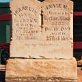 Headstone by Edward Peterson