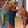 Healing The Man Born Blind Fragment 1311 by Duccio