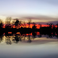 Hearns Pond Silhouette by Brian Wallace