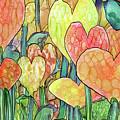 Heart Bloomies Gold-custom by Carol Cavalaris