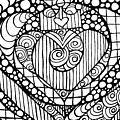 Heart Crown Tangle by Nada Meeks