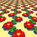 Heart Flowers by Miroslav Nemecek
