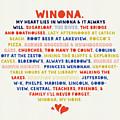Heart Lies In Winona Typography by Kari Yearous