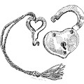 Heart Lock And Key by Dominic White