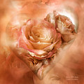 Heart Of A Rose - Gold Bronze by Carol Cavalaris