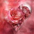 Heart Of A Rose - Melon Peach by Carol Cavalaris