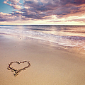 Heart On The Beach by Elusive Photography