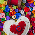 Heart pushpin chusion  by Garry Gay