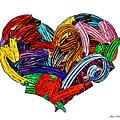 Heart Ribbons by Joan  Minchak