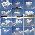 Heart Shaped Clouds - Collage by Daliana Pacuraru