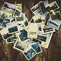 Heart-shaped Instant Photographs On Wooden Background by Jorgo Photography - Wall Art Gallery