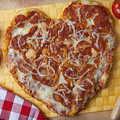 Heart Shaped Pizza by Garry Gay