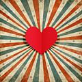 Heart With Ray Background by Setsiri Silapasuwanchai