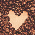 Hearts And Chocolate Drops. Valentines Background by Jorgo Photography - Wall Art Gallery