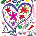 Hearts And Flowers by Susan Schanerman