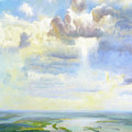 Heavenly Clouded Beauty Abstract Realism by Isabella Howard