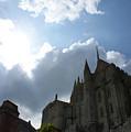 Heavens Above Mont St. Michel Abbey by Christine Jepsen
