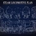 Heavy Steam Locomotive Blueprint by Daniel Hagerman