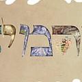 Hebrew Calligraphy- Carmit by Sandrine Kespi