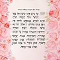 Hebrew Prayer For The Mikvah-ribono Shel Olam by Sandrine Kespi