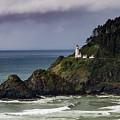 Heceta Head Historic Oregon Lighthouse by Teri Virbickis