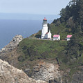 Heceta Head Lighthouse Li 9000 by Mary Gaines