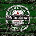 Heineken Beer Wood Sign 2 by Brian Reaves
