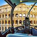 Helicopter On Colosseo by Benny Marty