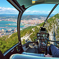 Helicopter On Gibraltar Rock by Benny Marty