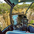 Helicopter On Tasman Arch by Benny Marty
