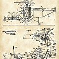 Helicopter Patent 1940 - Vintage by Stephen Younts