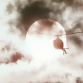 Helicopter Silhouette by Athena Mckinzie