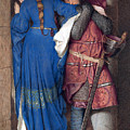 Hellelil And Hildebrand Or The Meeting On The Turret Stairs by Frederic William Burton